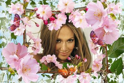 Фото вставить в цветы