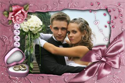 рамки для фото свадебные онлайн