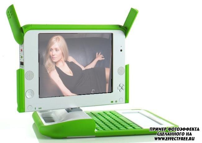 Вставить фото в монитор ноутбука