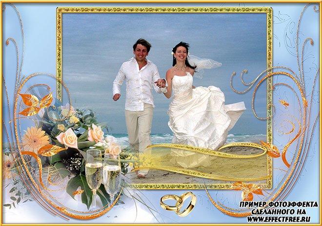 Рамочка для свадебных фото сделать самому в онлайн