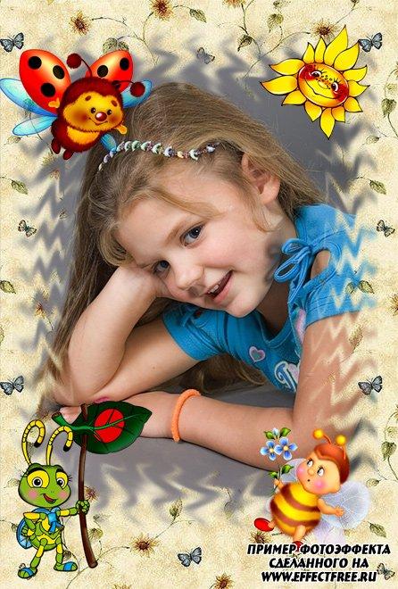 Красивая рамка для детей, вставить фото онлайн