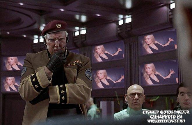 Фото на мониторах в кадре фильма Пятый элемент,вставить фото онлайн