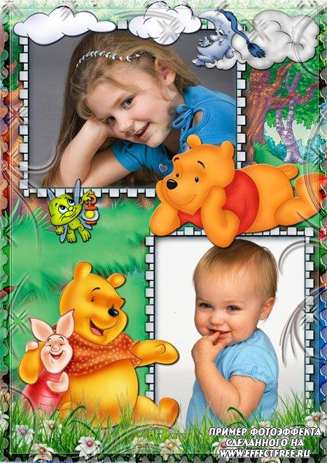 Сделать фотоколлаж детский