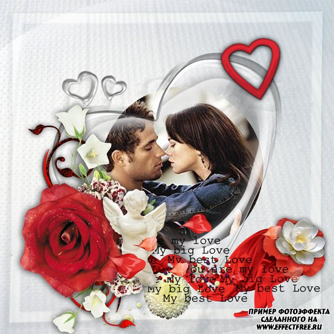 Яркая красивая страница с красными розами онлайн
