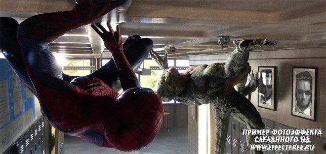 """Интересный фотоэффект из фильма """"Новый человек-паук"""", вставить фото онлайн"""