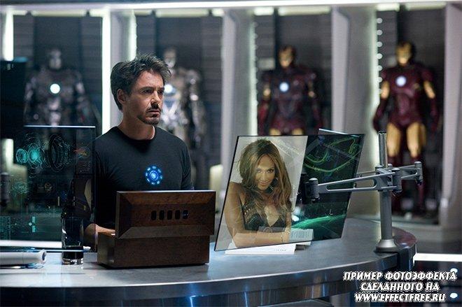 Фотоэффек в кадре фильма Железный человек-2 сделать онлайн