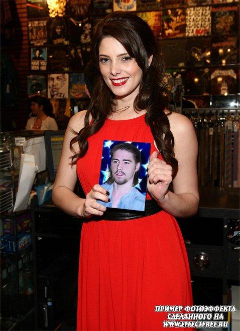 Фотоэффект с Эшли Грин актрисы из фильма Сумерки, вставить фото онлайн, сделать эффект