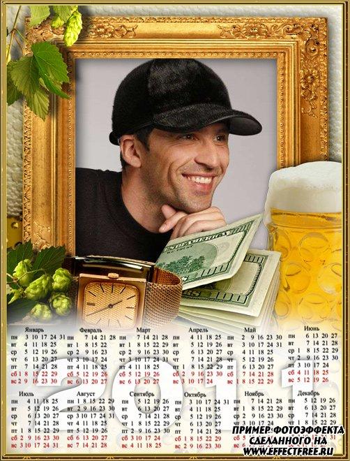 Красивый календарь 2500х1900 для мужчин на 2011 год, сделать онлайн
