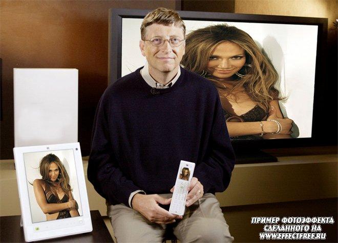 Оказаться на мониторах Билла Гейтса, сделать эффект онлайн