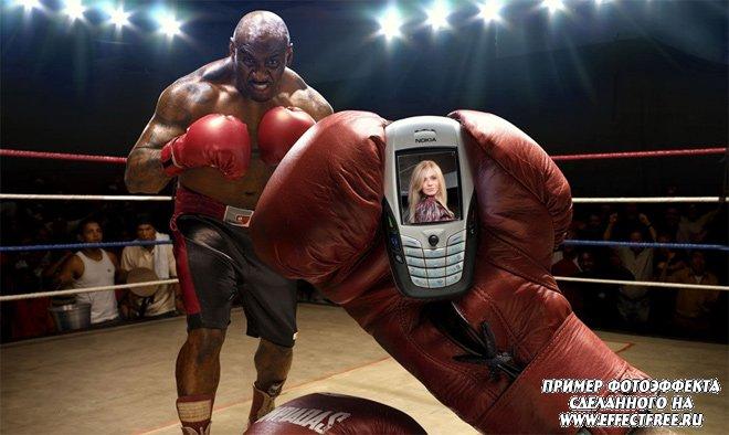 Фотоэффект на мониторе телефона с боксером сделать онлайн