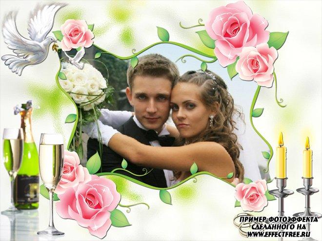 Свадебная рамочка для фото сделать онлайн