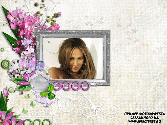 Онлайн рамки для фото создать для женщин с цветами, сделать онлайн фотошоп