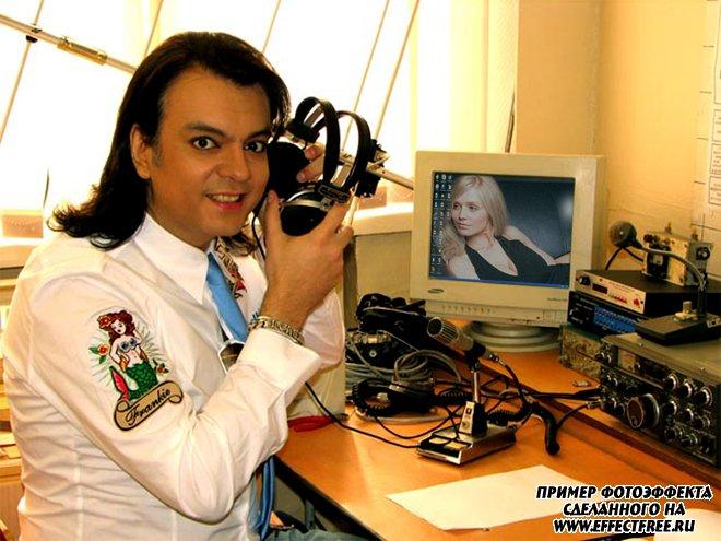 Вставить фото в готовый шаблон Филиппом Киркоровым, сделать в онлайн редакторе