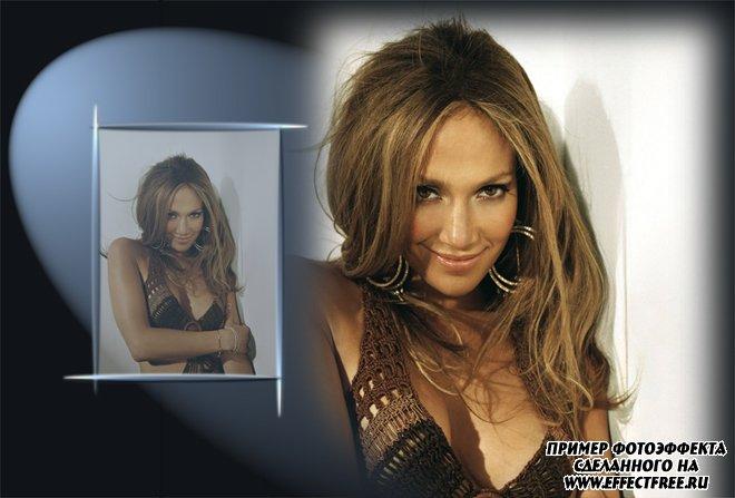 Вставить фото в двойную рамку для оформления фотоальбома, сделать онлайн фотошоп