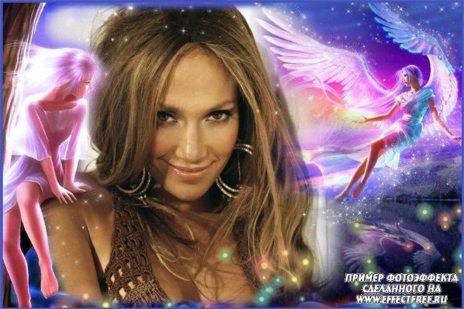 Классная рамка с ангелами, вставить фото в рамку онлайн