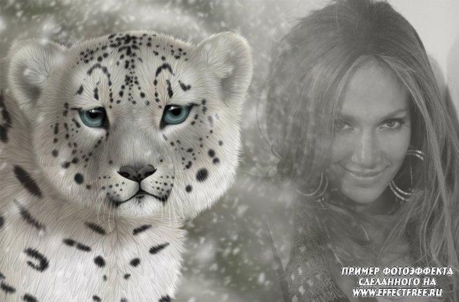 Интересный фотоэффект с симпатичным тигренком, вставить фото онлайн