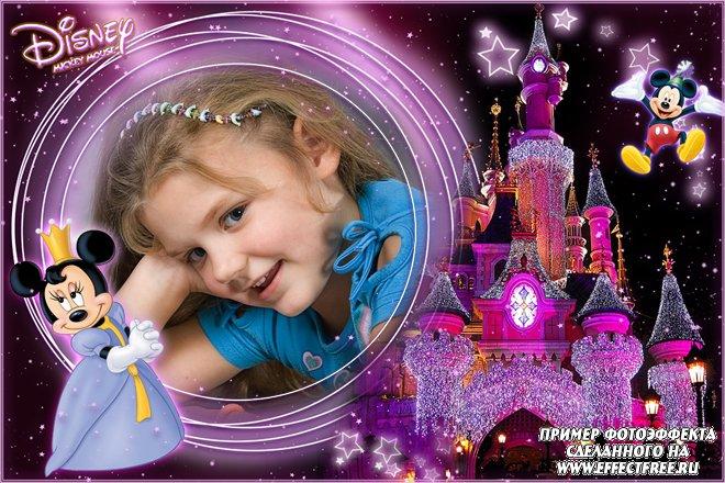 Детская рамка с Мини-Маус для девочек, вставить фотов рамку онлайн