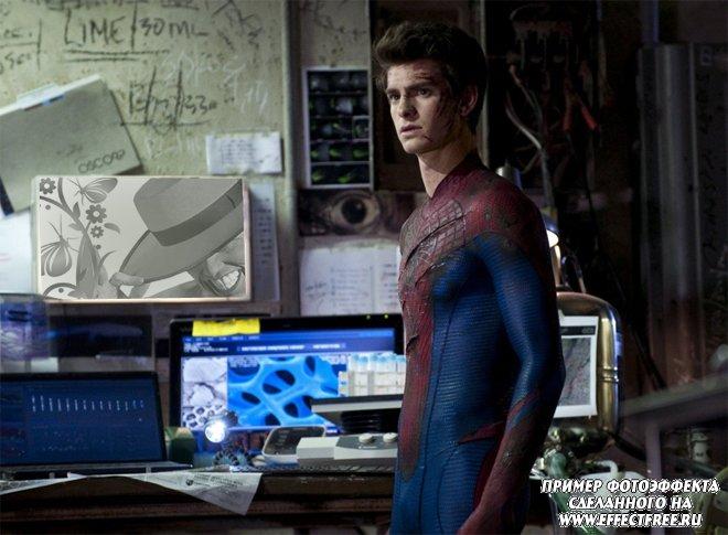 """Фотоэффект в кадре фильма """"Новый человек-паук"""", вставить фото онлайн"""