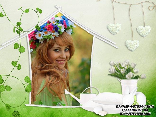 Вставить фото в весеннюю рамку онлайн, Раняя весна